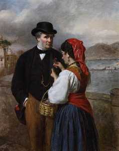 William Powell Frith - In Naples, Portrait of th..