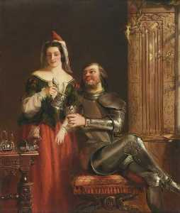 William Powell Frith - The Knight and the Maid