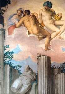 Givanni Battista Zelotti - Frescoes in the Hall of Olympus (detail)