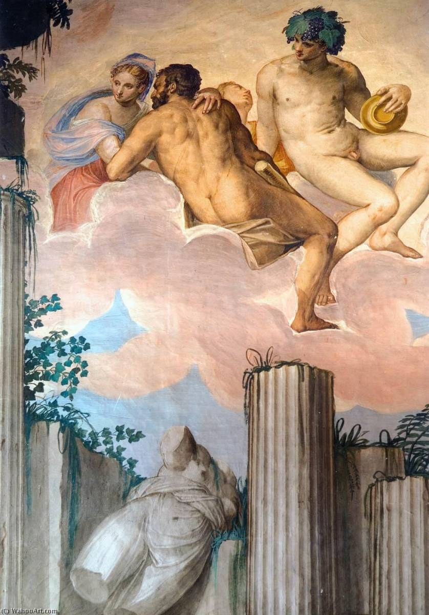 Buy Museum Art Reproductions | Frescoes in the Hall of Olympus (detail), 1561 by Givanni Battista Zelotti (1526-1578) | ArtsDot.com