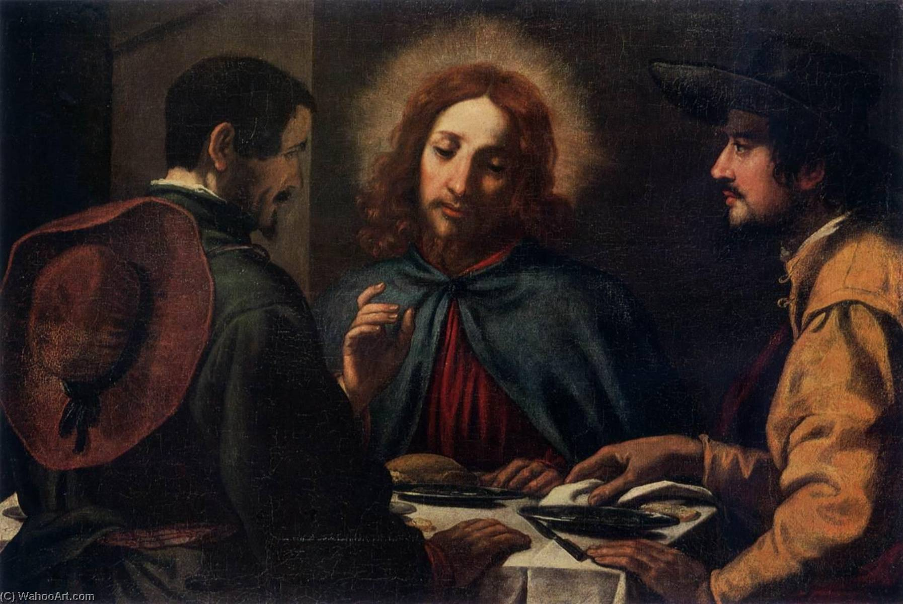 Supper at Emmaus by Jacopo Chimenti (1551-1640) | Museum Quality Reproductions | ArtsDot.com