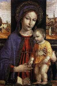 Ambrogio Da Fossano (Ambrogio Bergognone) - Virgin and Child
