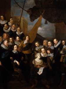 After Joachim Von Sandrart - Captain Bicker-s Company Waiting to Welcome Marie de Medicis in September 1638