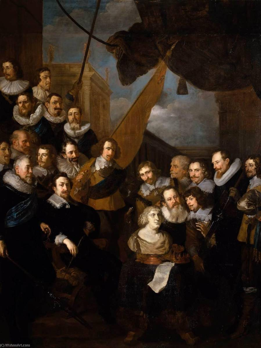 Captain Bicker`s Company Waiting to Welcome Marie de Medicis in September 1638, 1638 by After Joachim Von Sandrart (1606-1688) | Museum Art Reproductions After Joachim Von Sandrart | ArtsDot.com