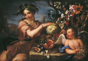 Luigi Garzi - Allegory of Autumn