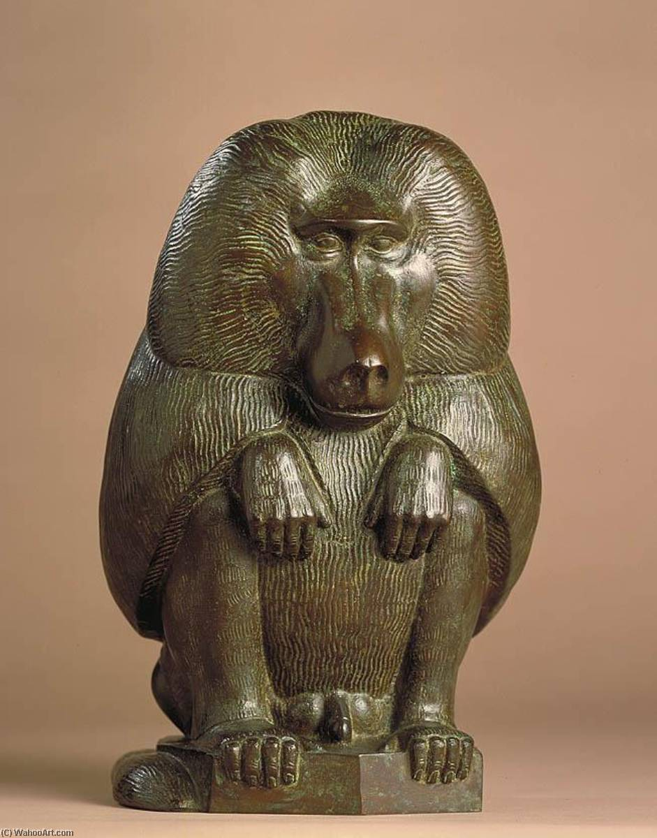 Baboon, 1932 by Paul Manship (1885-1966) | Museum Quality Reproductions | ArtsDot.com
