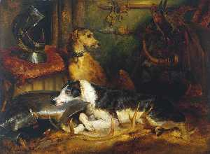 Edwin Henry Landseer - A Scene at Abbotsford