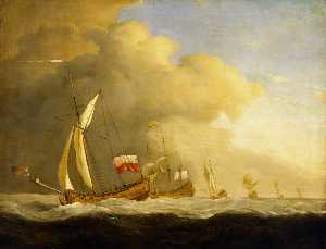 Willem Van De Velde The E.. - English Royal Yachts at S..