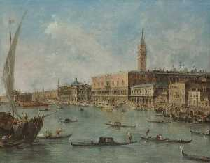 Francesco Lazzaro Guardi - Venice The Doge's Palace ..
