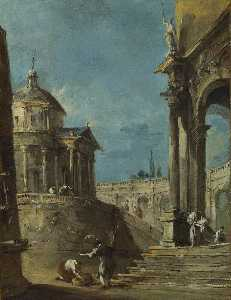 Francesco Lazzaro Guardi - An Architectural Caprice ..