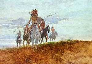 Charles Marion Russell - Natures Soldiers, (painting)