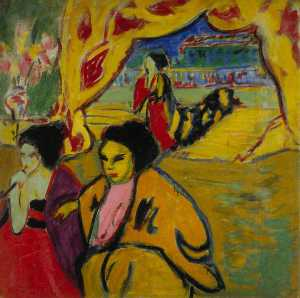 Ernst Ludwig Kirchner - Japanisches Theater (Japanese Theatre)