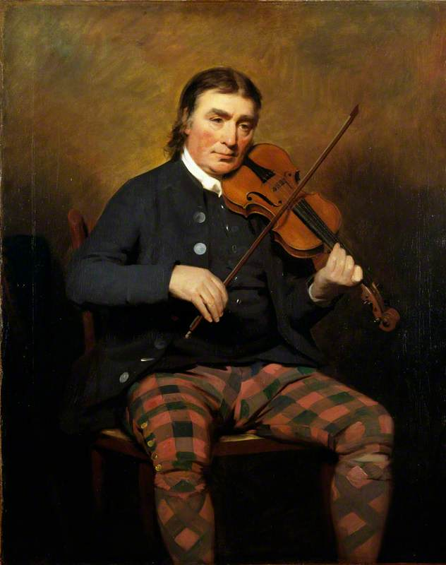 Niel Gow (1727–1807), Violinist and Composer, 1787 by Henry Raeburn (1756-1823, United Kingdom) | Museum Quality Reproductions | ArtsDot.com