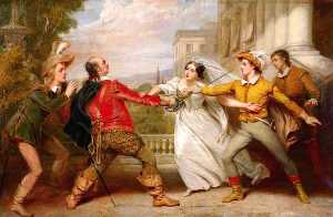 George Clint - The Duel between Sir Toby and Sebastian