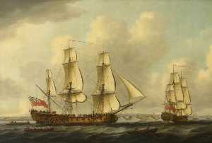 John Cleveley The Elder - The East Indiaman -Princess Royal-