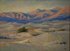 Mary Agnes Yerkes - Sunset Hour in the Dunes, (painting)