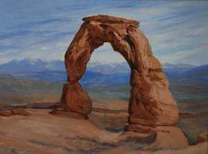 Mary Agnes Yerkes - The Delicate Arch, (painting)