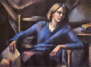 Mainie Jellett - Girl in Blue