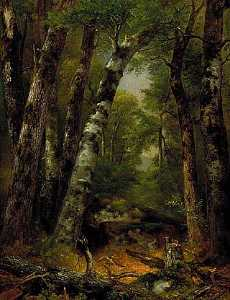 Asher Brown Durand - Woodland Glen, (painting)