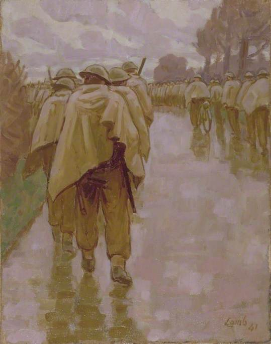 The Poor Bloody Infantry, 1941 by Henry Lamb (1883-1960, Australia) | Museum Art Reproductions | ArtsDot.com
