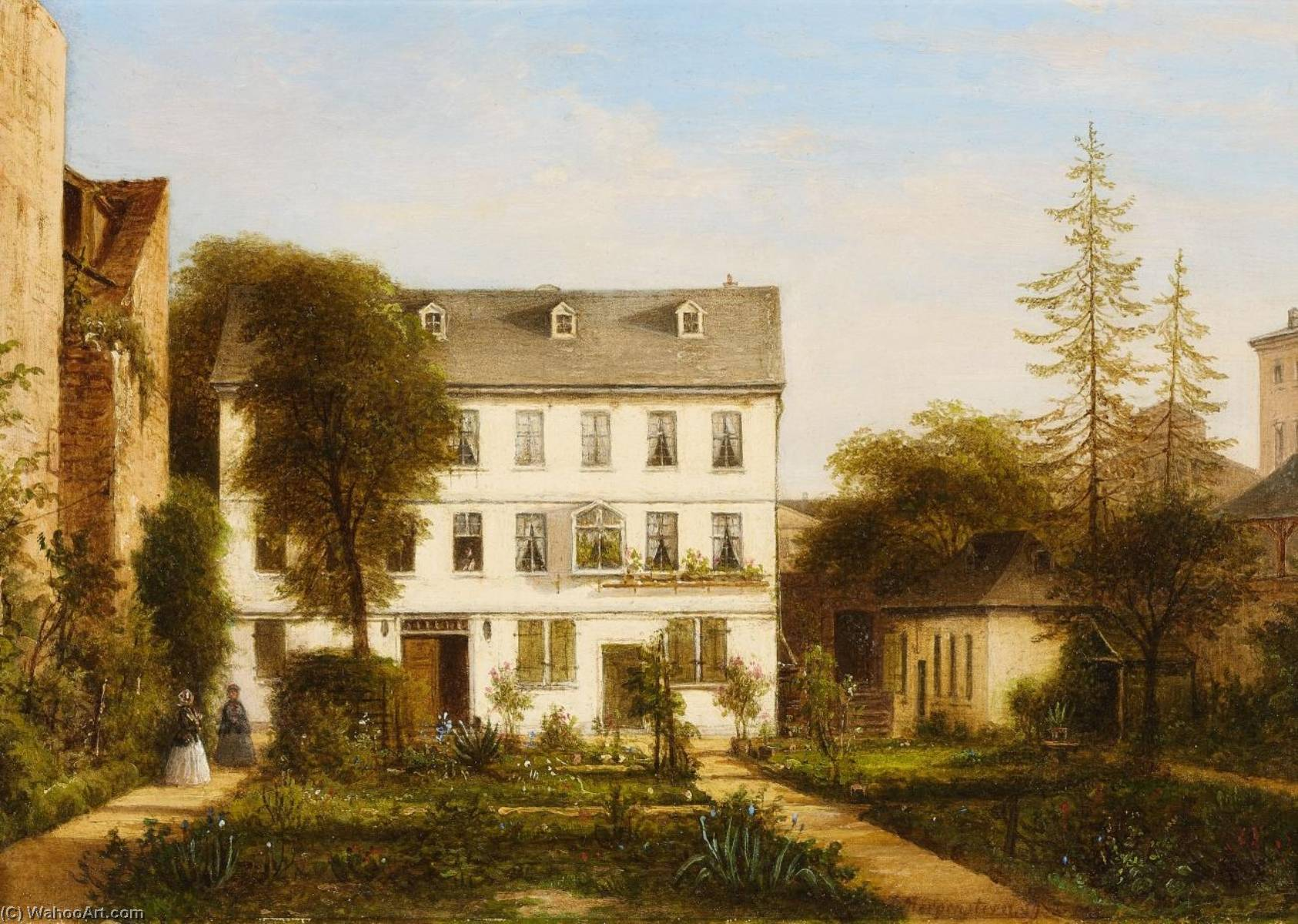 A House in Frankfurt by Carl Morgenstern | Museum Art Reproductions | ArtsDot.com