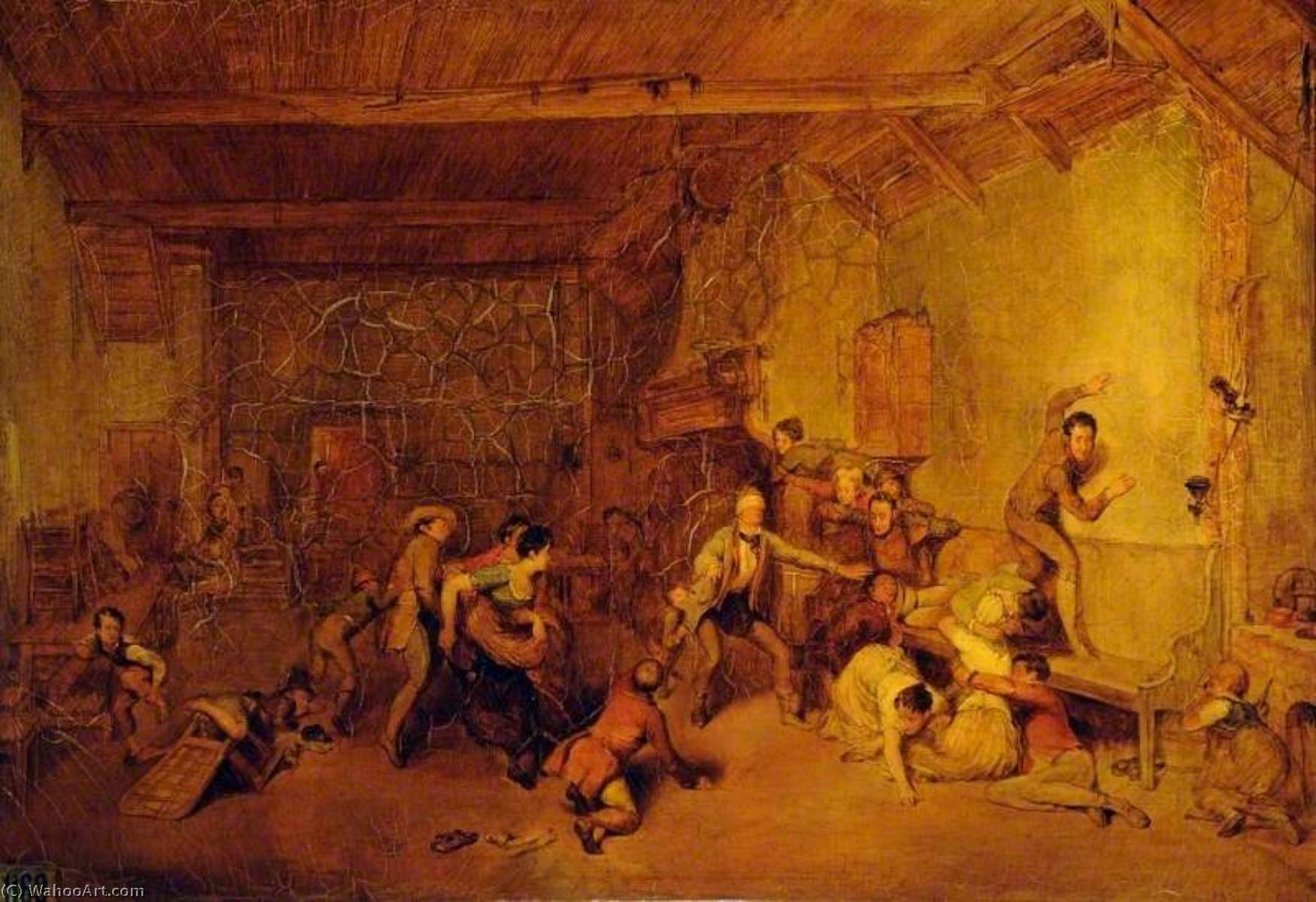 Order Museum Quality Reproductions : Blind Man`s Bluff, 1830 by David Wilkie Wynfield | ArtsDot.com