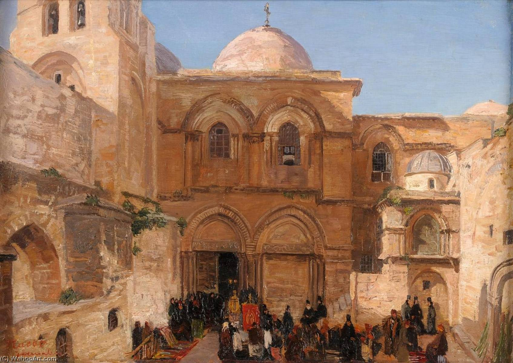 The Holy Sepulchre of Jerusalem by Georg Macco (1863-1933) | Art Reproduction | ArtsDot.com