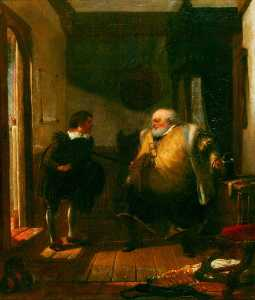 Augustus Wall Callcott - Falstaff and Simple (from..