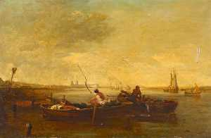 Augustus Wall Callcott - River Thames to the West,..
