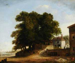 Augustus Wall Callcott - Northfleet, near Greenwic..