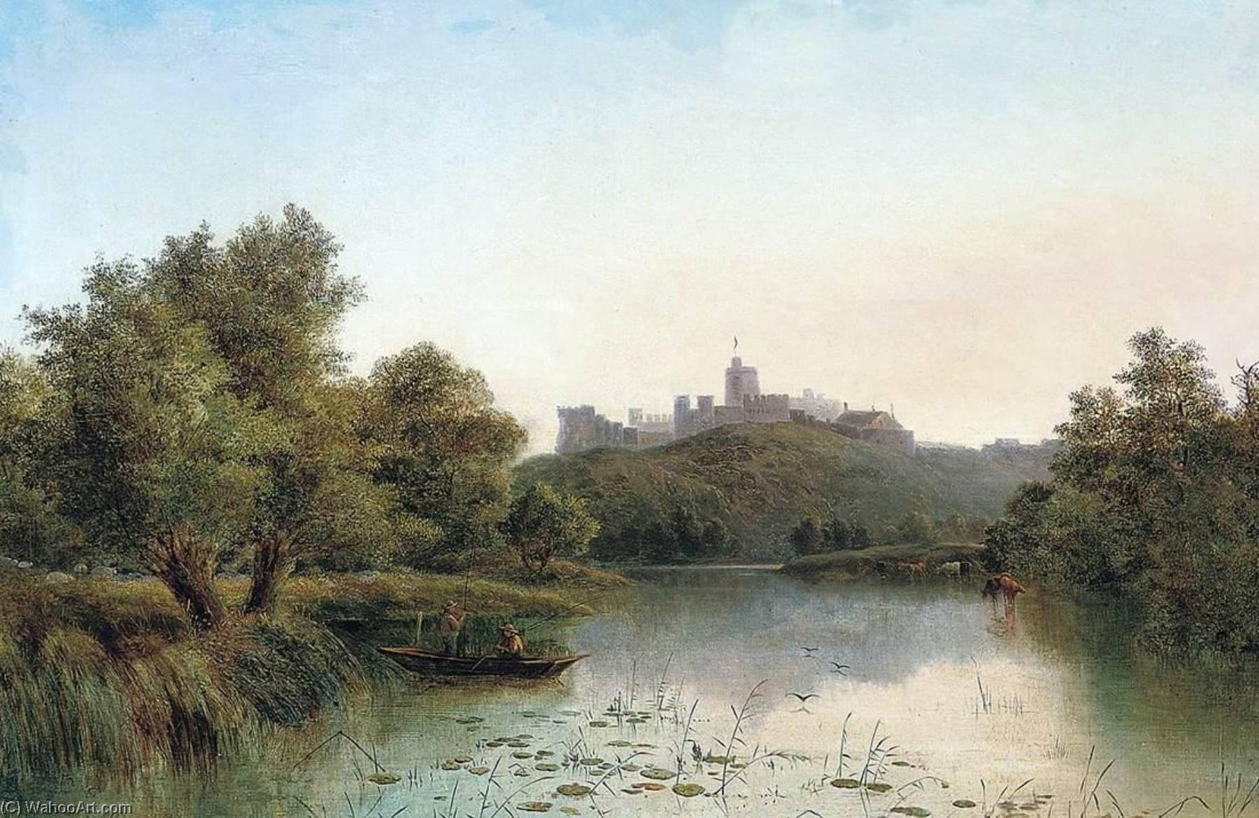 Windsor Castle from the Thames by George Augustus Williams | Art Reproduction | ArtsDot.com