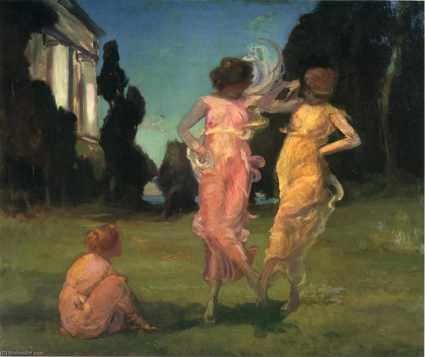 May Dance, 1882 by Charles Walter Stetson (1858-1911, United States) | Museum Quality Reproductions | ArtsDot.com
