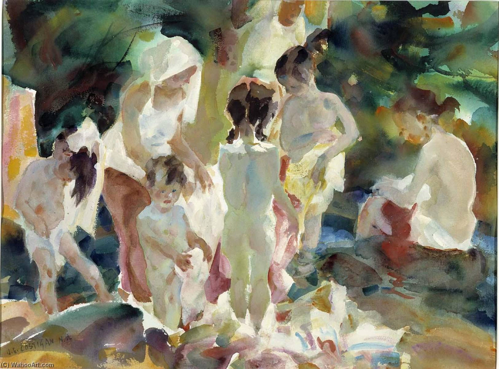 Figures in the Sunlight, 1961 by John Edward Costigan (1880-1972, United States) | Art Reproduction | ArtsDot.com