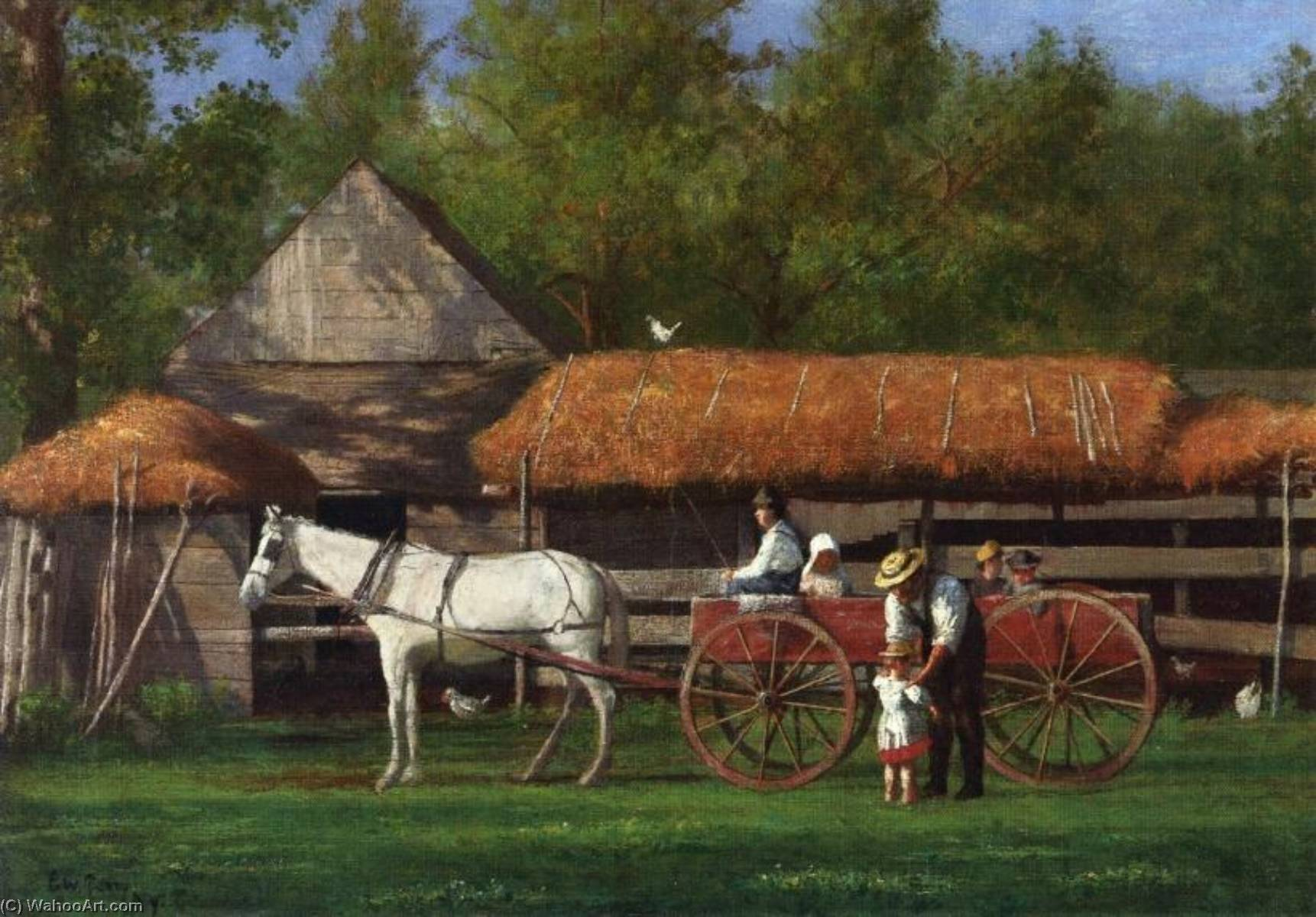 Going for a Ride by Enoch Wood Perry | Museum Art Reproductions Enoch Wood Perry | ArtsDot.com