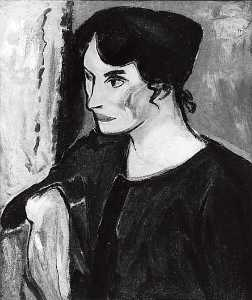 Alfred Henry Maurer - Portrait of a Woman, (painting)