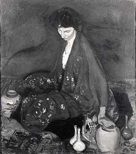 Alfred Henry Maurer - Woman and Pottery, (painting)