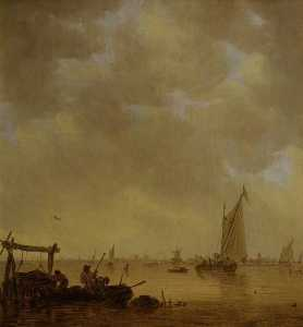 Jan Van Goyen - An Estuary