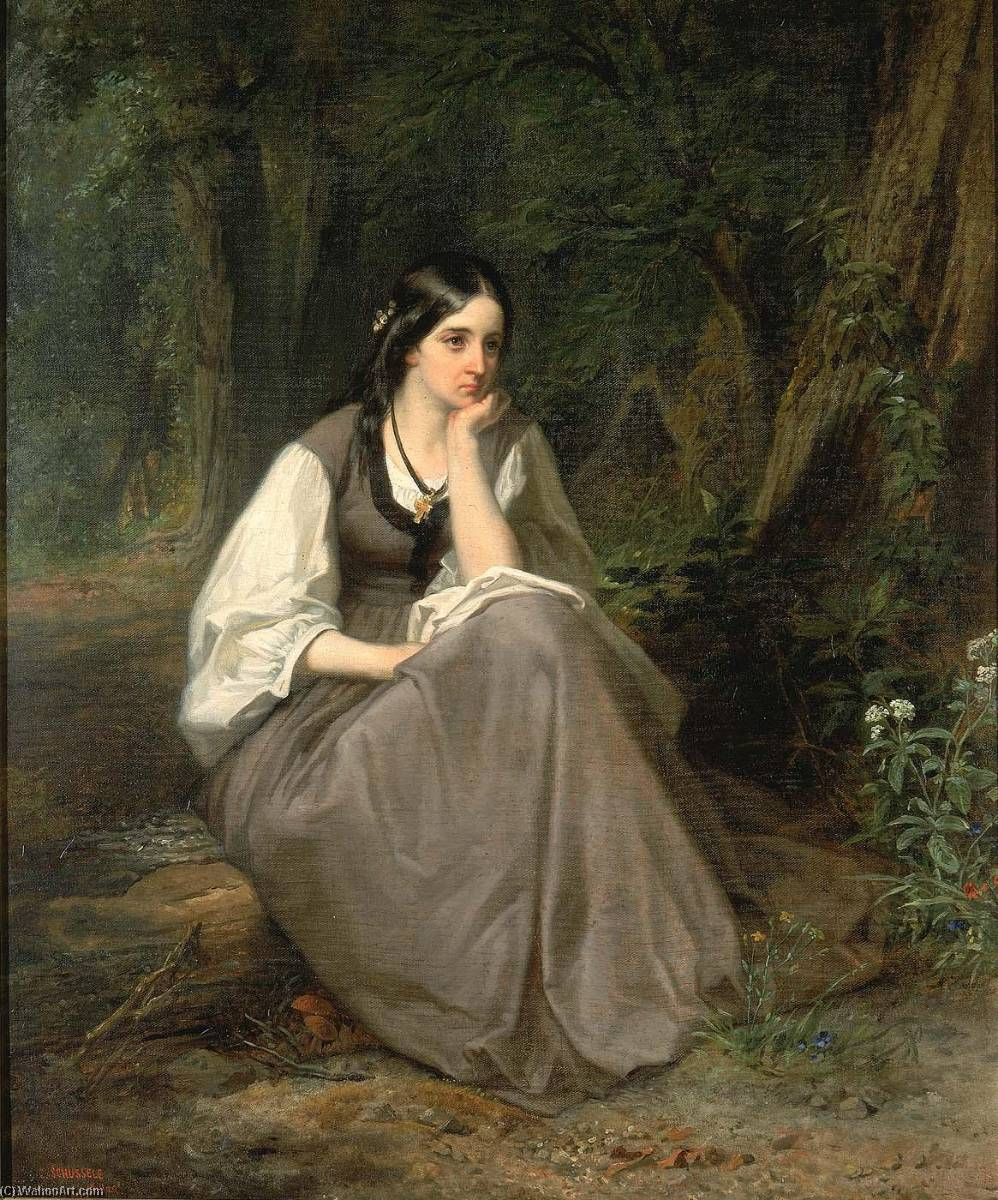 Evangeline, 1861 by Christian Schussele | Art Reproduction | ArtsDot.com