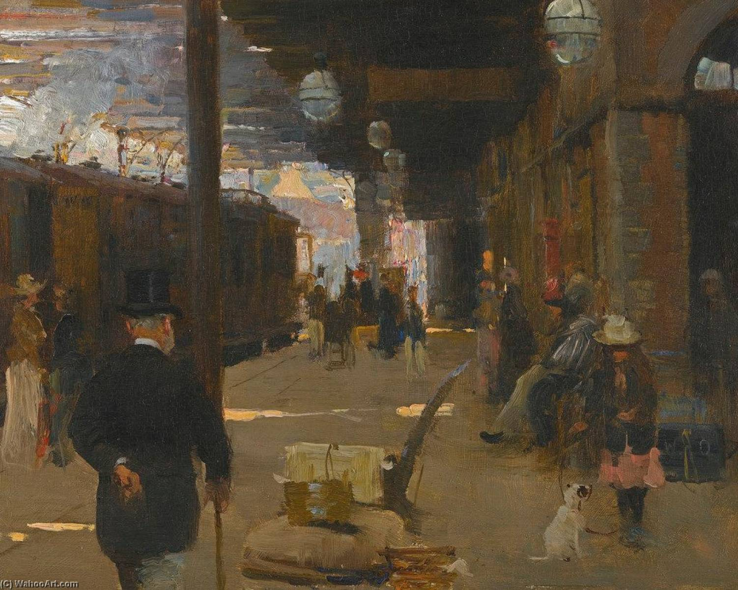 Hastings Railway Station by Walter Frederick Osborne (1859-1903, Ireland) | Museum Quality Reproductions | ArtsDot.com