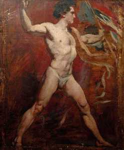 William Etty - Standing Male Nude