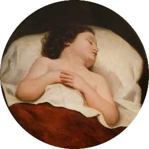 William Etty - A Child Asleep
