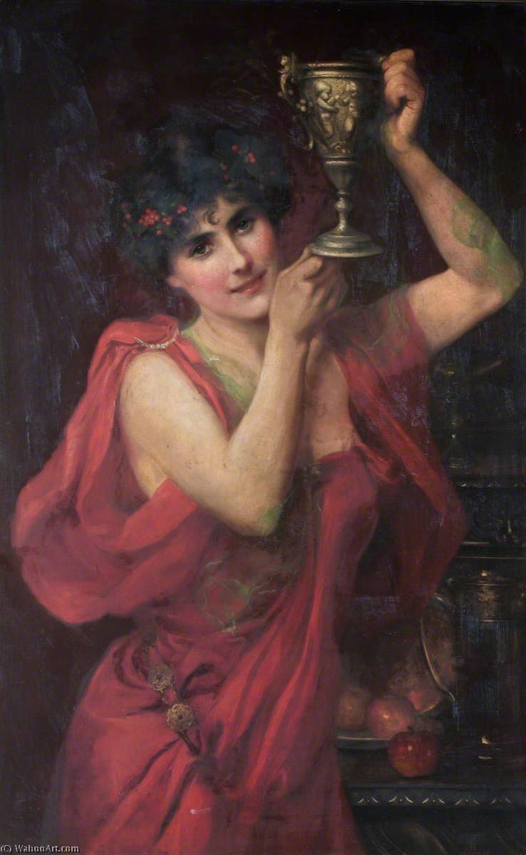 Buy Museum Art Reproductions | Woman Carrying a Pitcher, 1917 by Beatrice Offor (1864-1920, United Kingdom) | ArtsDot.com