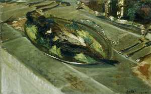 Jacques-Emile Blanche - Still Life Fish on a Silver Plate