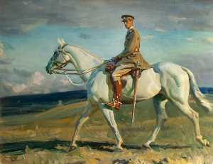 Alfred James Munnings - 'Grey Lady' Riden by Sir ..