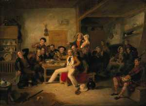 William Allan - James Hogg (1770–1835), Poet (The Ettrick Shepherd) (The Ettrick Shepherd-s House Heating or The Celebration of his Birthday)