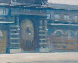 Alfred James Munnings - Study at Horse Guards- Barracks