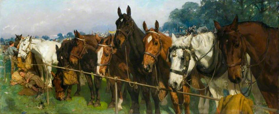 Mixed Company at a Race Meeting, 1904 by Lucy Elizabeth Kemp Welch (1869-1958) | Museum Art Reproductions | ArtsDot.com