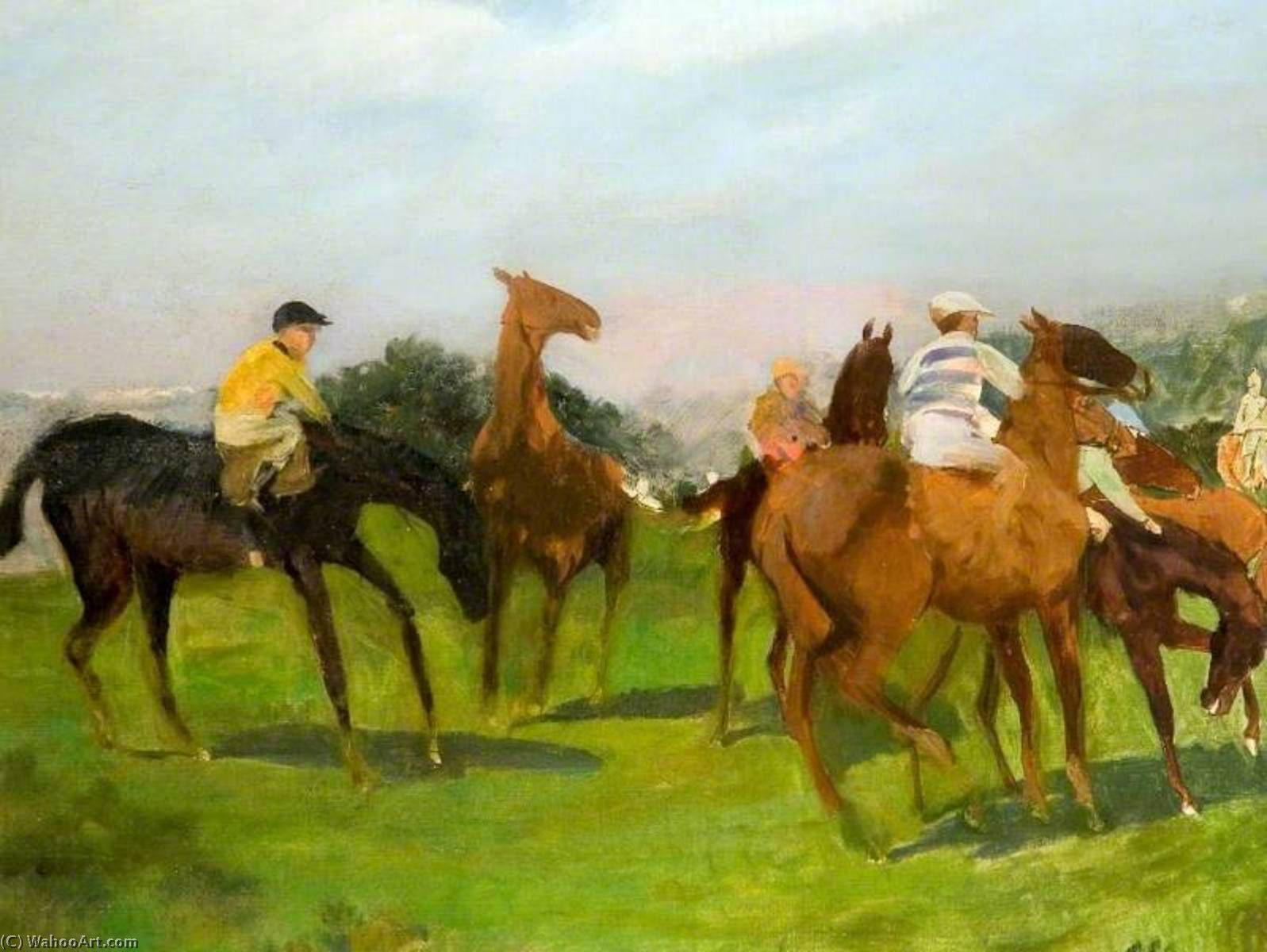 Study for `Start at Goodwood` by Lucy Elizabeth Kemp Welch (1869-1958) | Museum Art Reproductions | ArtsDot.com