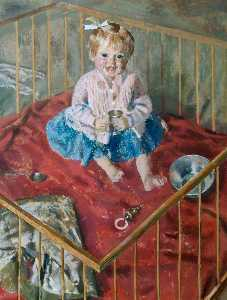 Alfred Reginald Thomson - Mary A Child in a Playpen