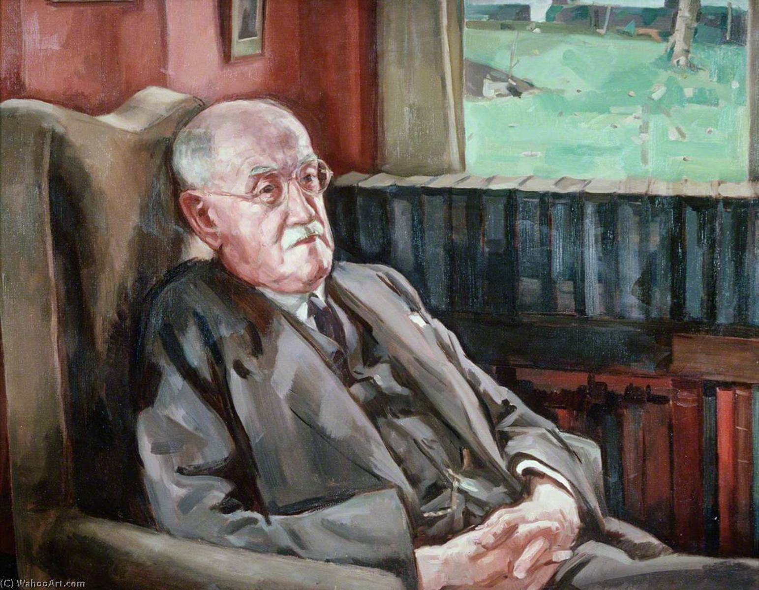 Sir John Edward Lloyd (1861–1947), 1950 by Ivor Williams (1908-1982, United Kingdom) | Museum Art Reproductions | ArtsDot.com
